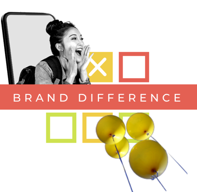 Brand difference banner icon (Transparent)